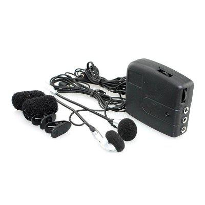 QMP-432 Capacete com fio Walkie Talkie Motorcycle Front Rear Seat Headset Portable Audio Intercom Headphone