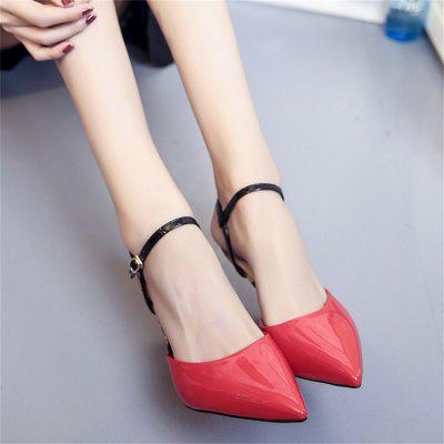 All-Match Pointed Stiletto Sandals Fashion TemperamentWomens Sandals<br>All-Match Pointed Stiletto Sandals Fashion Temperament<br><br>Available Size: 35?36,37,38,39<br>Heel Type: Stiletto Heel<br>Occasion: Casual<br>Package Contents: 1xShoes pair<br>Pumps Type: Ankle Strap<br>Season: Summer, Spring/Fall<br>Toe Shape: Pointed Toe<br>Toe Style: Closed Toe<br>Upper Material: Patent Leather<br>Weight: 0.8320kg