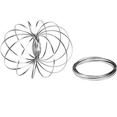 Kinetic Educational Spring Toy Multi Sensory Interactive 3D Shaped Flow Ring