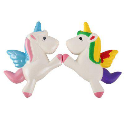 Slow Rising Jumbo Squishy Kawaii Unicorn Horse Soft Toy 2PCS