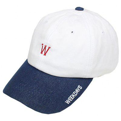 W Letter Embroidery Baseball Hat