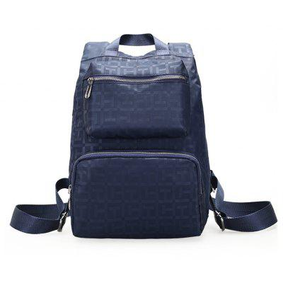 Large Capacity Wild Fashion Simple Male Solid Color Travel Backpack Tide