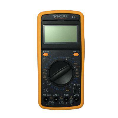 DT9208A.1 LCD Handheld Digital Multimeter Using for Home and Car