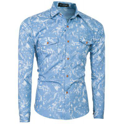 2018 Spring and Summer New Foreign Trade Classic Denim Mens Slim Long-sleeved ShirtMens Shirts<br>2018 Spring and Summer New Foreign Trade Classic Denim Mens Slim Long-sleeved Shirt<br><br>Collar: Turn-down Collar<br>Material: Cotton Blends<br>Package Contents: 1 x T-shirt<br>Shirts Type: Casual Shirts<br>Sleeve Length: Full<br>Weight: 0.2500kg