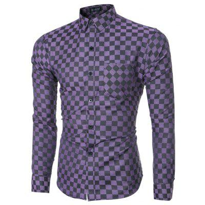 2018 Spring and Summer New Mens Casual Fashion Small Plaid Long-sleeved ShirtMens Shirts<br>2018 Spring and Summer New Mens Casual Fashion Small Plaid Long-sleeved Shirt<br><br>Collar: Turn-down Collar<br>Material: Cotton Blends<br>Package Contents: 1 x T-shirt<br>Shirts Type: Casual Shirts<br>Sleeve Length: Full<br>Weight: 0.2500kg