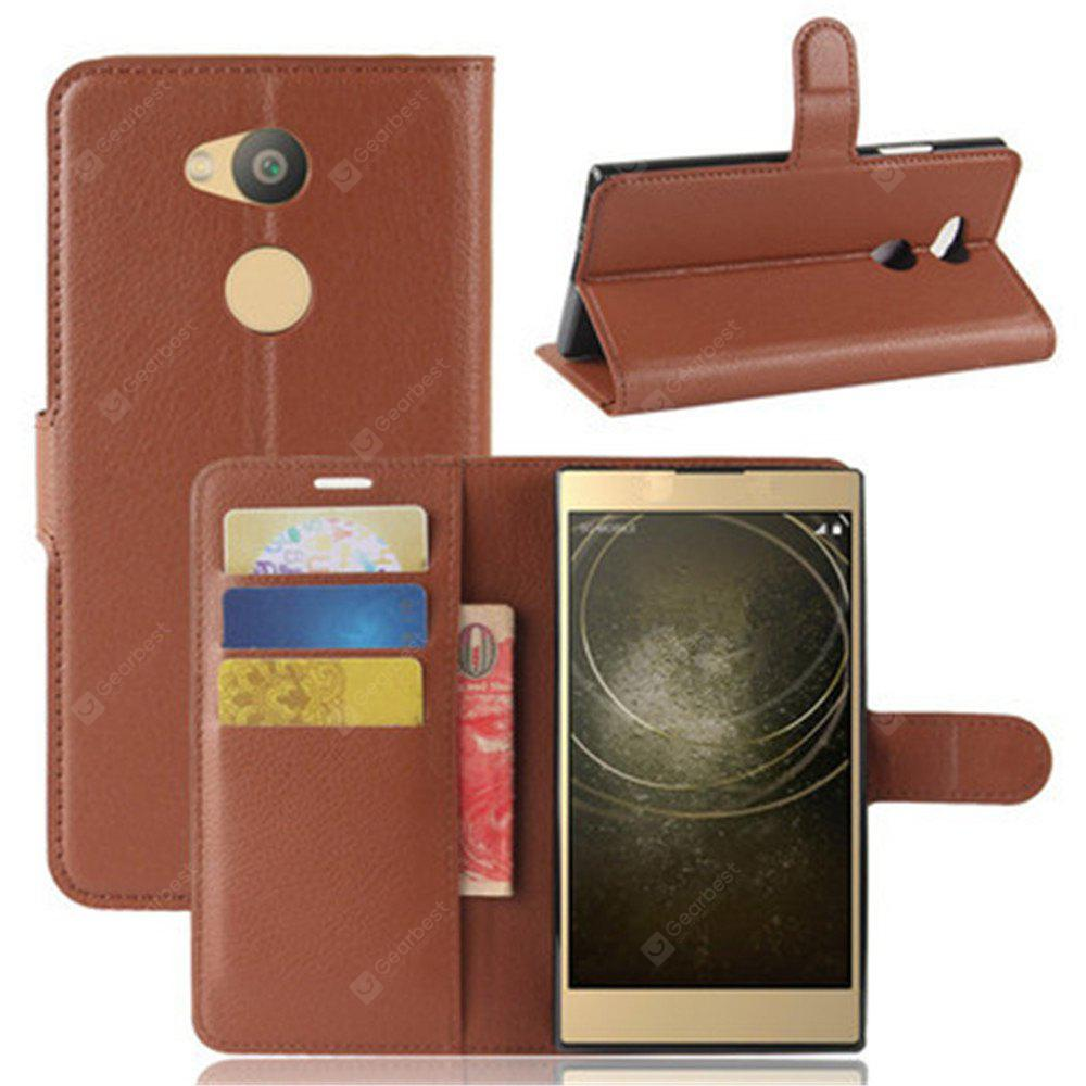 SONY L2 litchi Grain Purse Type Mobile Phone Holster