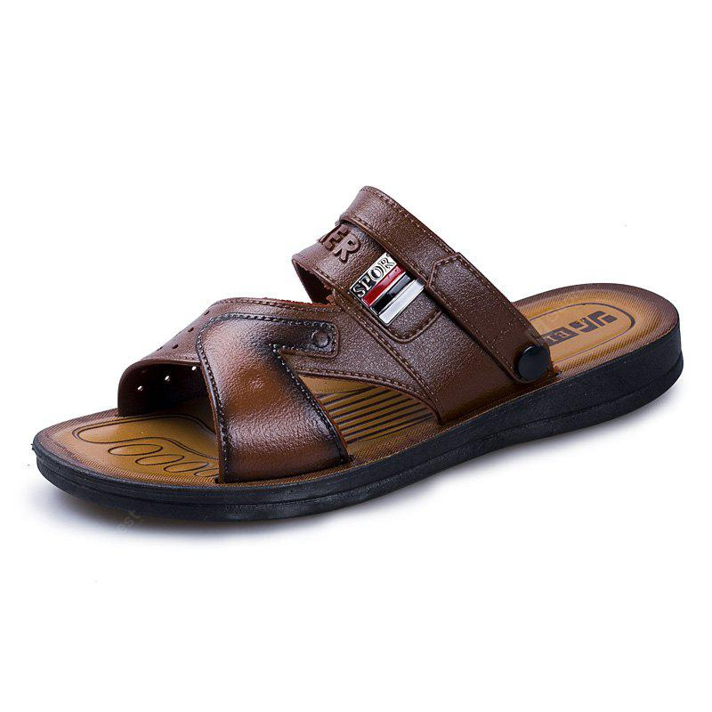 Summer Comfortable Ventilated Leather Sandals for Men