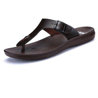 Summer Comfortable Ventilated Leather Slippers for Men