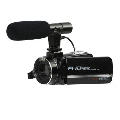 DV02 FHD DIS 24M Sony Sensor 16X Digital Zoom Touch Panel Remote Control Beauty Face DV with External Microphone
