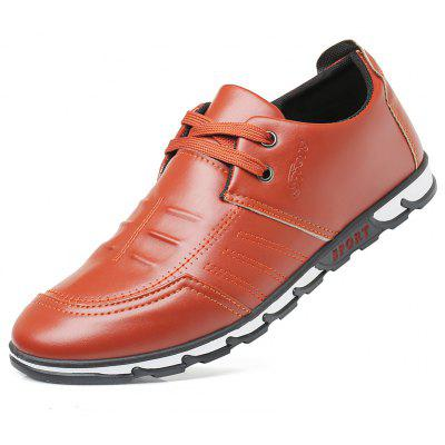 Men Casual Hiking Outdoor Wedding Busniess Lace-Up Leather Shoes
