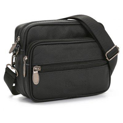Genuine Leather Men Small Bag Shoulder Messenger Bags Travel Waist Pack Phone Pouch