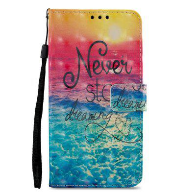3D PU Leather Wallet Stand Case for Xiaomi Redmi 5 Ocean Pattern