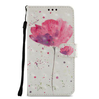 3D PU Leather Wallet Stand Case for Xiaomi Redmi 5 Lotus Pattern