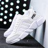 New Men's Lightweight Solid Color Classic Sneakers - WHITE