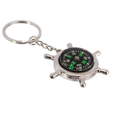 Creative Personality High Quality Compass Metal Key Chain