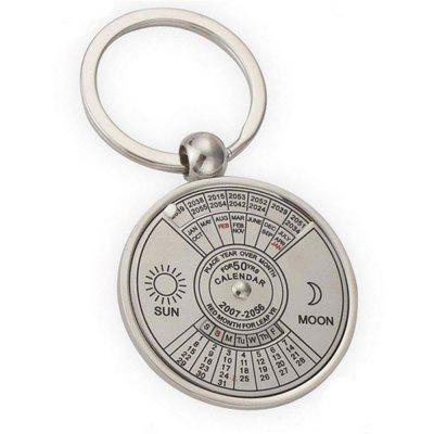 Creative Personality High Quality Metal Chinese English Compass Calendar Keychain