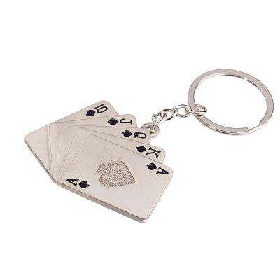 Hot High-quality Poker Personalized Fluffy Key Chain Carved