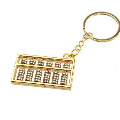 Creative Gold and Silver Abacus Key Pendant 6 Files 1PC