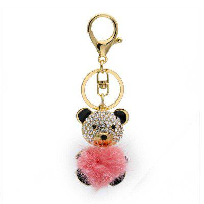 Creative Sprout Bear Shape Decoration Rhinestone Key Chain