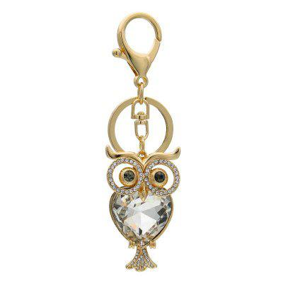 Creative Big Eye Owl Style Decoration Rhinestone Key Chain