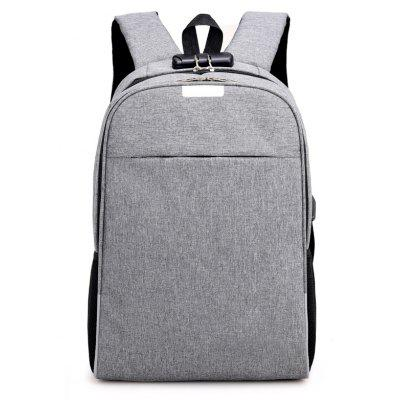 Mochila de Nylon Estudiante Bag USB Charging Interface