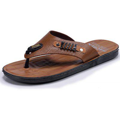 Fashion Outdoor Walking Leather Slippers