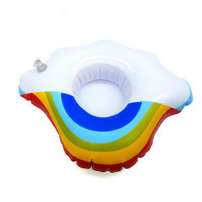 Mini Rainbow Cloud Inflatable Cup Holder Swimming Drink Party Toy Supplies