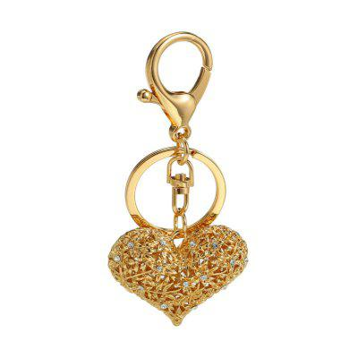Creative Fashion Heart Shape Decoration Rhinestone Key Chain