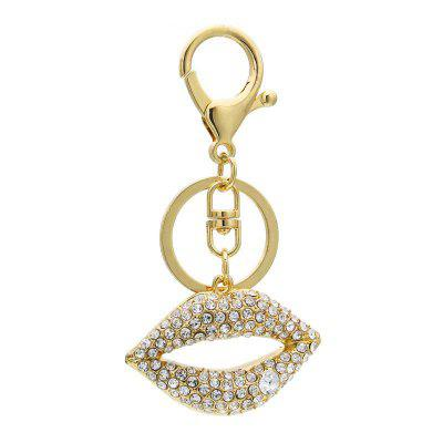 Creative Lips Shape Decoration Rhinestone Key Chain