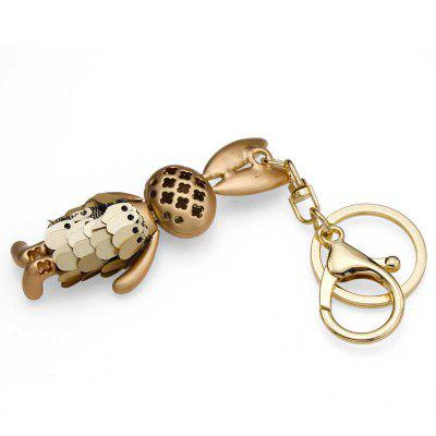 Creative Lovely Rabbit Shape Decoration Rhinestone Key Chain