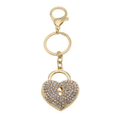 Creative Love Heart Shape Decoration Rhinestone Key Chain