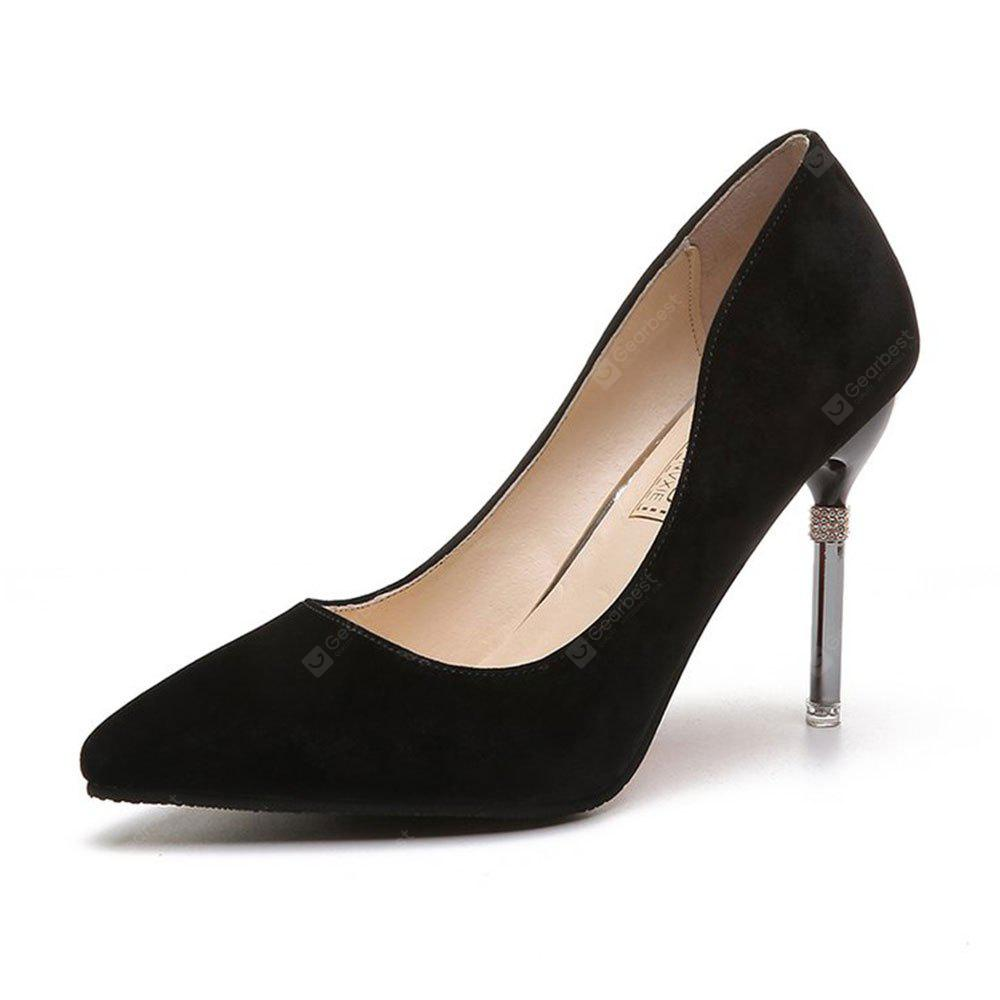 Summer New Pointed Fine with Air Quality High Heels