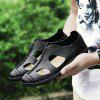 ZEACAVA Men's Summer Casual Breathable Leather Shoes - BLACK