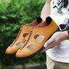 ZEACAVA Men's Summer Casual Breathable Leather Shoes - BROWN