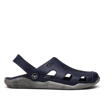 Breathable Comfortable Leather Sandals for MenMens Sandals<br>Breathable Comfortable Leather Sandals for Men<br><br>Available Size: 40,41,42,43,44<br>Embellishment: None<br>Gender: Unisex<br>Outsole Material: PVC<br>Package Contents: 1xShoes(pair)<br>Pattern Type: Others<br>Season: Summer, Spring/Fall<br>Slipper Type: Outdoor<br>Style: Fashion<br>Upper Material: PVC<br>Weight: 0.6272kg