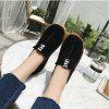 Suede Slip-On Women's Loafers - BLACK