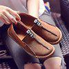 Suede Slip-On Women's Loafers - BROWN