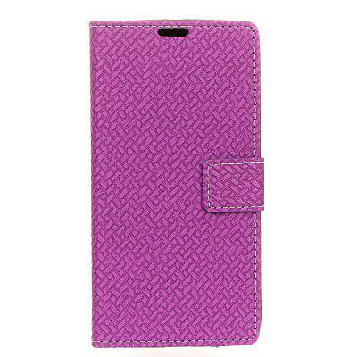 Cover Case For LG V30 Braided Pattern PU Leather Wallet