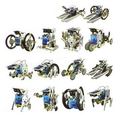 14-in-1 Educational Toy Solar Power Robot DIY Assembly Kit