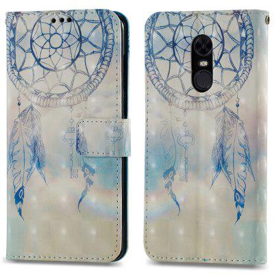 3D PU Leather Wallet Stand Case for Xiaomi Redmi 5 Plus Dreamcatcher Pattern