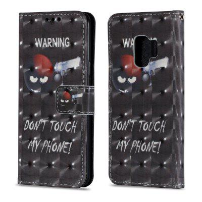 3D PU Leather Flip Wallet Stand Case for Samsung Galaxy S9 Sharpshooter Pattern