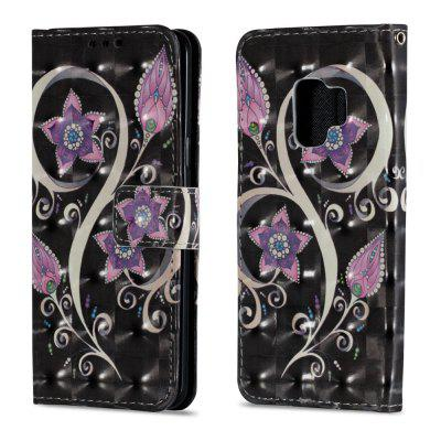 3D PU Leather Flip Wallet Stand Case for Samsung Galaxy S9 Peacock Flowers Pattern