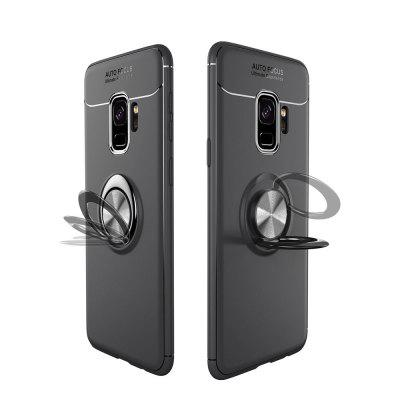 Ring Case for Samsung Galaxy S9 with Kickstand TPU Shockproof Protection Cover raindrop shape hybrid slim tpu bumper 360 degree rotating metal ring holder kickstand case for samsung galaxy note 8