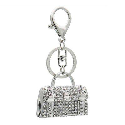 Creative Handbag Style Decoration Rhinestone Key Chain