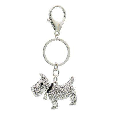 Creative Cute Dog Shape Decoration Rhinestone Key Chain