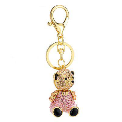 Creative Cute Bear Shape Decoration Rhinestone Key Chain