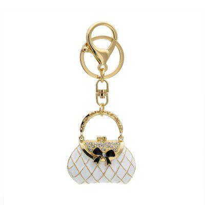 Creative Woman Bag Shape Decoration Rhinestone Key Chain