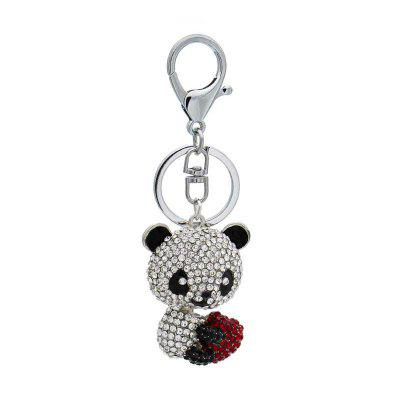 Creative Lovely Bear Shape Decoration Rhinestone Key Chain