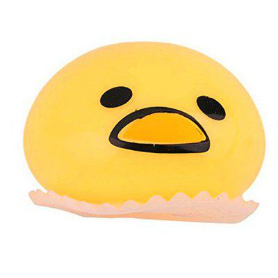 New Pinching Spit Yellow Egg Toy