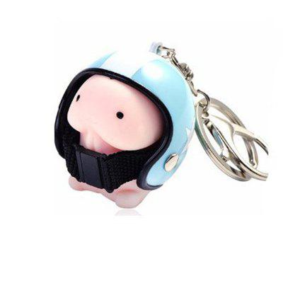 Jumbo Squishy Kreslený chlapec s přilbou Cute Keychain Squeeze Stress Reliever Toy